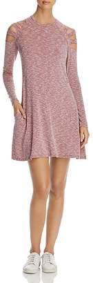 Elan International Cold-Shoulder Space-Dye Dress
