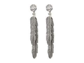 M&F Western Antiqued Feather Drop Earrings