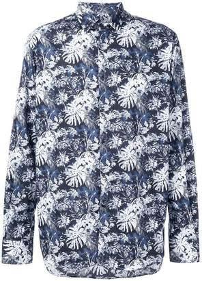 Karl Lagerfeld Paris Lagerfeld tropical print button down shirt