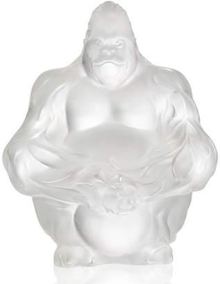 Lalique Crystal Gorilla Sculpture/Figurine, Clear