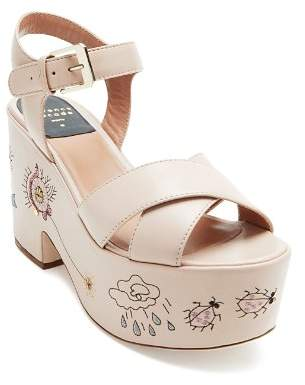 Laurence Dacade Women's Helissa Leather Platform Sandals