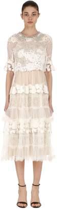 Antonio Marras Embellished Lace & Tulle Dress