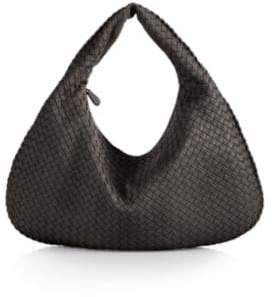 Bottega Veneta Veneta Large Leather Hobo Bag