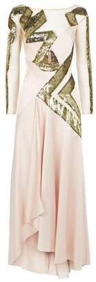 Temperley London Insignia Sleeved Gown