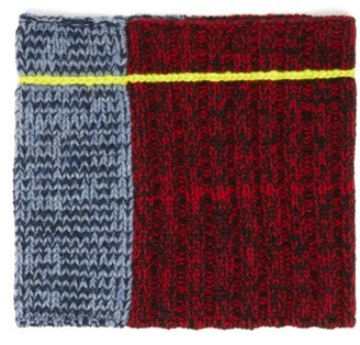 Colville - Panelled Knitted Wool Snood - Womens - Multi