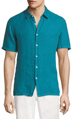 Theory Men's Irving Summer Linen Short-Sleeve Sport Shirt
