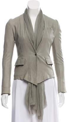 Isaac Sellam Chiffon-Accented Lamb Leather Jacket