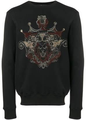 Billionaire textured print sweatshirt