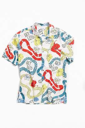 Urban Outfitters Lei Hawaiian Short Sleeve Button-Down Shirt