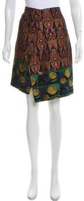 Dries Van Noten Jacquard Patterned Skirt
