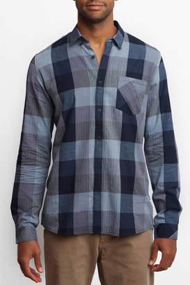 Buffalo David Bitton Civil Society Check Herringbone Button Down Shirt