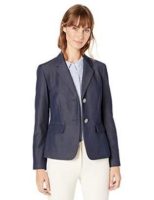 Nine West Women's Plus Size 2 Button Notch Collar Jacket