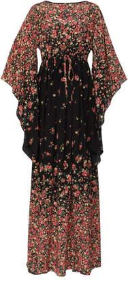 Michael Kors Kimono Silk Maxi Dress