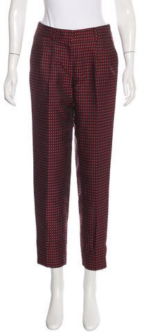 Kate Spade New York Jacquard Straight-Leg Pants