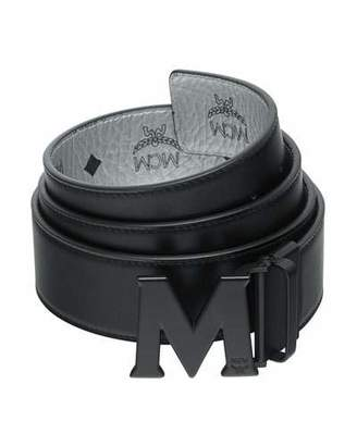 MCM Men's Crown Visetos Reversible M-Buckle Monogram Belt