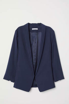 H&M Shawl-collar Jacket - Dark blue - Women
