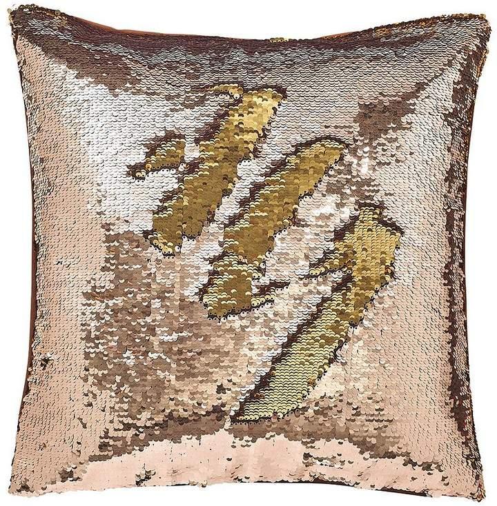 Catherine Lansfield Reverse Sequin Cushion - Bronze/Gold