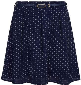 Yumi Womens/Ladies Anchor Skater Skirt