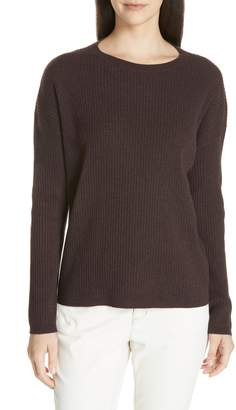 Eileen Fisher Boxy Ribbed Cashmere Sweater