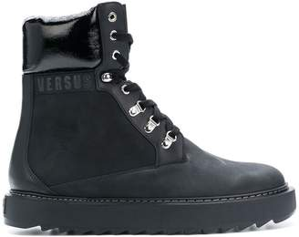 Versus lace-up military boots