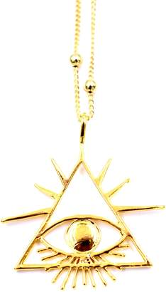 LUX DIVINE Triangle Eye Pendant Necklace