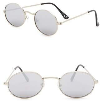 Steve Madden 50mm Flat Lens Round Sunglasses