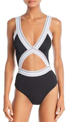 Dolce Vita Fast Lane Blair Cutout One Piece Swimsuit
