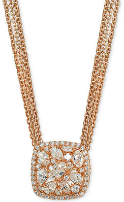 Giani Bernini Crystal Cluster Multi-Chain Pendant Necklace, Created for Macy's