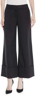 Monse Wide-Leg Cuffed Tux Wool Cuffed Pants