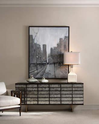John-Richard Collection Mystique Antiqued Mirrored 9-Drawer Dresser