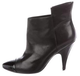 Sigerson Morrison Leather Cap-Toe Boots
