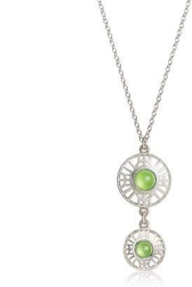 Comach Fine Jewellery - Stonegate Double Peridot & Silver Pendant