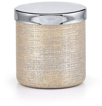 Labrazel Woven Metallic Canister with Nickel Polished Lid