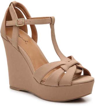 Qupid Clemence-273 Wedge Sandal - Women's