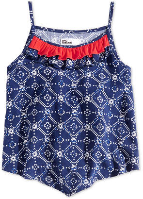 Epic Threads Toddler Girls Printed Ruffle-Trim Tank Top, Created for Macy's