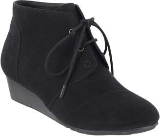Mia Amore Suede Lace-up Wedge Booties - Sarah