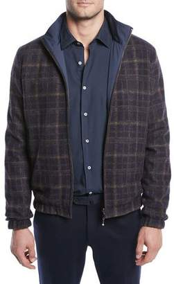 Loro Piana Men's Duo Reversible Bomber Jacket