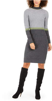 Jessica Howard Petite Colorblocked Sweater Dress