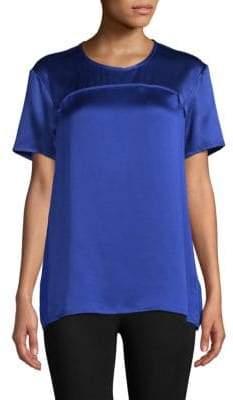 Roberto Cavalli Short-Sleeve Silk Top