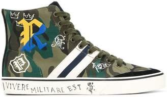 Polo Ralph Lauren camouflage hi-top sneakers