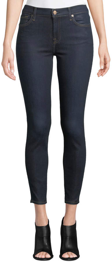 B(Air) Coated Ankle Skinny Jeans