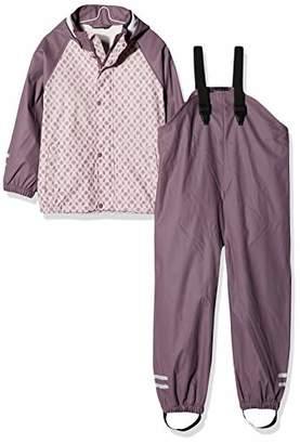 Name It Girl's Nmfdry Rain Set 1fo Clothing, Pink Burnished Lilac