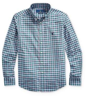 Ralph Lauren Boys' Plaid Performance Button-Down Shirt - Big Kid
