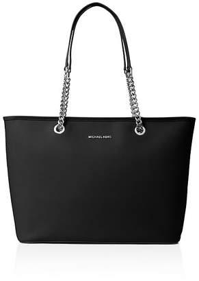 MICHAEL Michael Kors Jet Set Travel Chain Medium Saffiano Leather Tote $125 thestylecure.com
