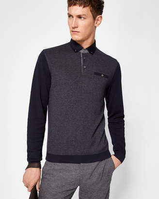 Ted Baker WOOLPAK Button-front polo top