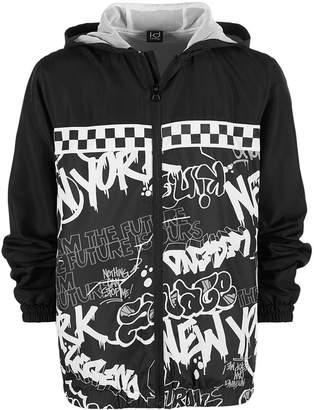Macy's Ideology Big Boys Graffiti-Print Windbreaker, Created for
