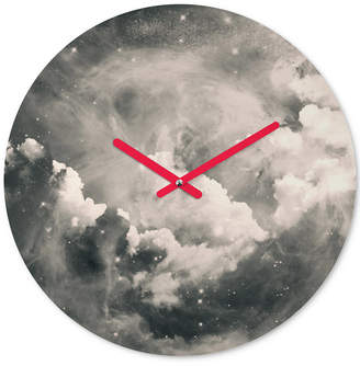 Deny Designs Caleb Troy Find Me Among The Stars Round Clock