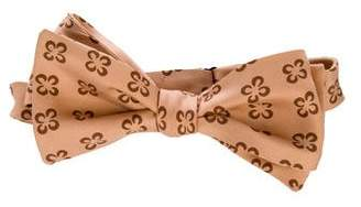 Charvet Floral Print Silk Bow Tie