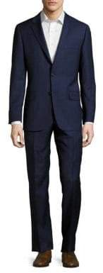 Hickey Freeman Regular-Fit Plaid Wool Suit