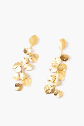 Kenneth Jay Lane Gold Long Leaf Earrings